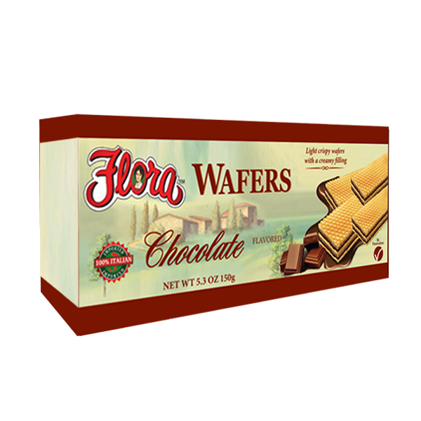 The Flora Chocolate Wafers are a first-class addition to any dessert spread. These light and flaky cookies will satisfy any chocoholic's craving without any heavy regret.