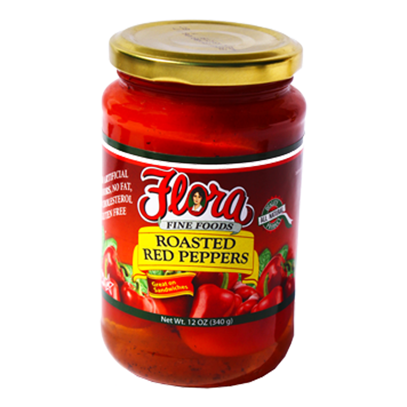 Roasted Red Peppers 12oz - Flora Fine Foods