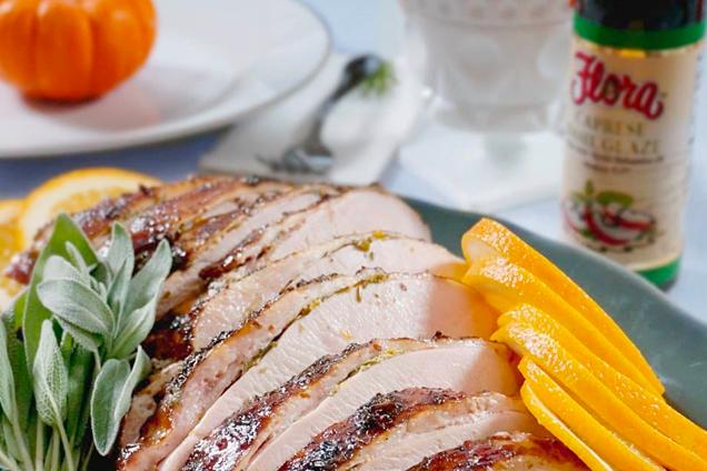 Roast Turkey Breast Balsamic Glaze