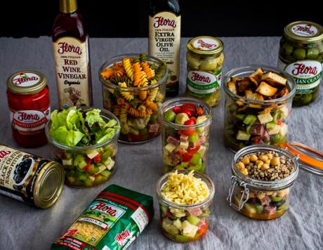 Summer Antipasto Salad in a Jar.