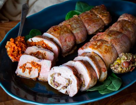 Tapenade Stuffed Pork Roulade